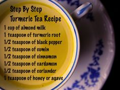 Turmeric Tea (no agave; raw honey, maple syrup, or coconut nectar only)