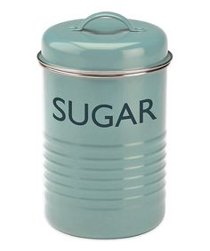 Look at this Typhoon Blue 'Sugar' Canister on #zulily today!