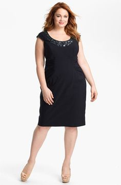Adrianna Papell Embellished Ruched Sheath Dress (Plus Size) available at #Nordstrom