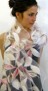 Alarte Silks catalog of nuno felt shawls by Izabela Sauer