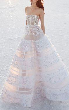 Alex Perry Bride Harper Sheer Embellished Gown