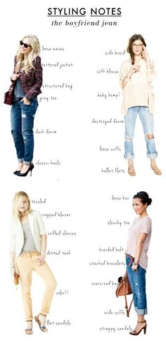 Styling Boyfriend Jeans -- You can get several distinct looks from one hardworking pair of comfy jeans.