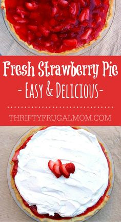 This Fresh Strawberry Pie is the best and it's one of my favorite summer desserts. It's so delicious and the recipe is easy enough that anyone can make it!