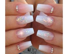 Sexy Nail Art, Sexy Nails, Cute Nails, Pretty Nails, Cute Acrylic Nail Designs, Best Acrylic Nails, Nail Art Designs, Acrylic Gel, Sparkly Nail Designs