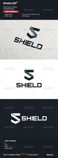 5hield Logo Template — Vector EPS #internet #company • Available here → https://graphicriver.net/item/5hield-logo-template/6648111?ref=pxcr