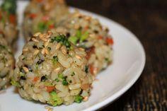 Vegan rice vege balls... Great for kids lunch box for gluten free kids