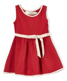 Love this Red & Pink Bow Fit & Flare Dress - Infant, Toddler, Girls & Women on #zulily! #zulilyfinds