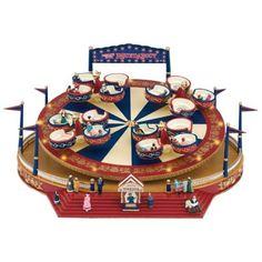 Christmas World's Fair Roundabout Animated Music Box Christmas Music Box, Christmas World, Mr Christmas, Lemax Christmas Village, Christmas Villages, Ceramic Houses, Gold Labels, World's Fair, Amusement Park
