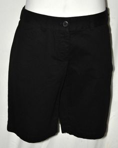 Ann Taylor Loft Black Casual Shorts Sz 0 Original Fit NWT