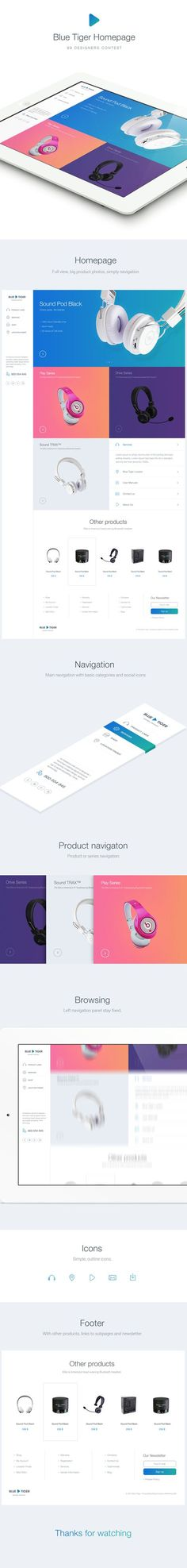 Web design - Headphones store by Martin Rus Interaktives Design, Modern Web Design, Web Ui Design, Best Web Design, Navigation Design, Happy Design, Media Design, Layout Design, Webdesign Inspiration