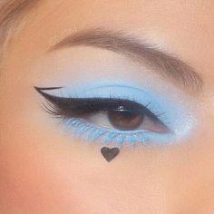 Indie Makeup, Edgy Makeup, Makeup Eye Looks, Grunge Makeup, Eye Makeup Art, Crazy Makeup, Pretty Makeup, Eyeshadow Makeup, Makeup Inspo
