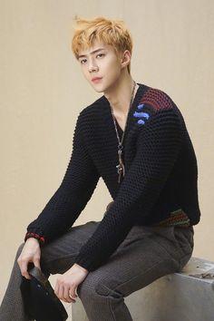 More dazzling photos of EXO's Sehun revealed in exclusive 'SuperELLE' behind cuts Rapper, Sehun Cute, Chanyeol Baekhyun, Exo Exo, Exo Official, Kim Jongdae, Hunhan, Kim Junmyeon, Elle Magazine