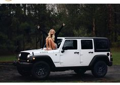 Pinterest: iamtaylorjess | White Jeep Wrangler #ad #jeep #blonde
