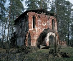 Valamo Monastery –the half-ruined church at Smolensky Skete, Valaam, 2002