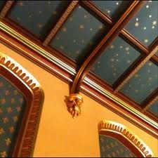 Starry Chapel Ceiling in St. Mary's Parish Church in Old Amersham, Bucks by Cathy Porch Ceiling, Ceiling Murals, Ceiling Ideas, Blue Ceilings, Painted Ceilings, Starry Ceiling, Wallpaper Stencil, Yellow Walls, Gothic House