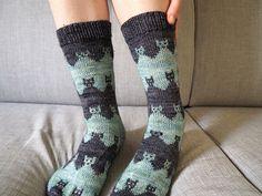 Ravelry: Prairie Cats Socks pattern by Solène Le Roux