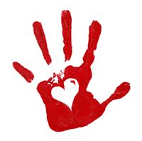 Valentine's Day handprint