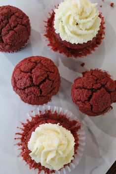Keto Red Velvet Cupcakes are perfect for any time of year - and they're low carb, Ketogenic, a THM:S, Sugar Free, and Grain Free! Red Velvet Cookies, Red Velvet Cupcakes, Coconut Flour, Almond Flour, Red Velvet Recipes, Red Food Coloring, Cream Cheese Icing, Whoopie Pies, Sugar Free