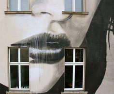 Mural in Berlin by RONE