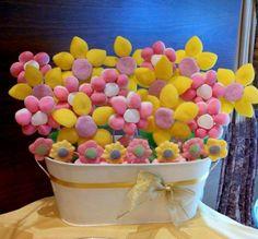 Flores para Candy Bar - Mesa de chuches