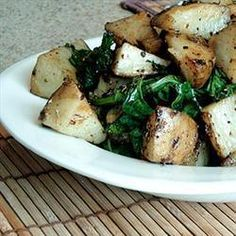 Roast Potatoes with Greens Recipe on Yummly