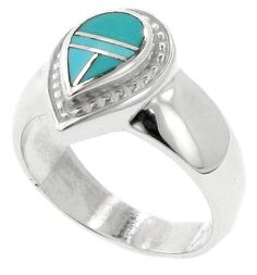Inlaid Sterling Silver Ring