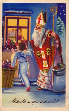 Sinterklaas en het kerstkind kaart, jr. 60