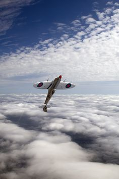 The Silver Spitfire. Find its history here: http://www.raf.mod.uk/bbmf/theaircraft/silverspitfire.cfm