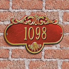 Rochelle Wall Mount Address Plaque - BLACK/WHITE LETTERS - Improvements by Improvements. $74.99. Address plaque is crafted of rust-free aluminum to last. Numbers are raised to make finding your address easier. Old-style design is a beautiful way to communicate your address. Rochelle Wall-Mount Address Plaque comes in many color options. Old-style design is a beautiful way to communicate your address. Numbers are raised to make finding your address easier. Address plaque is crafte...