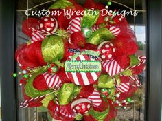 Deco Mesh Wreath Instructions | Merry Christmas Peppermint Deco Mesh Wreath @ Heart-2-HomeHeart-2-Home