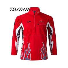 Daiwa Fishing Clothing Long Sleeve Xs-5xl Summer Autumn Winter Quick-Drying Brea
