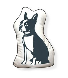 Hello Boston Terrier Cut Out Pillow by Naked Decor