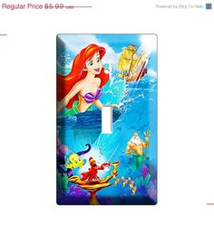 LIMITED SALE Ariel the little mermaid flounder fish by DecorLounge, $5.09