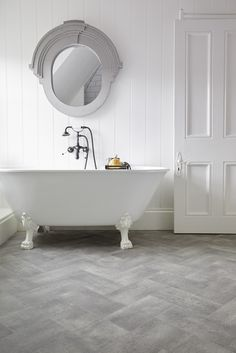 The Ultimate Style collection is great for bathrooms, as showcased here in Bilbao decor. www.avenuefloors.co.uk