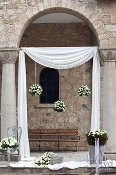 Kipos Kalou - EverAfter Church Wedding, Wedding Groom, Rustic Wedding, Wedding Day, Luxury Wedding Dress, Floral Wedding, Wedding Dresses, Home Wedding Decorations, Ceremony Decorations