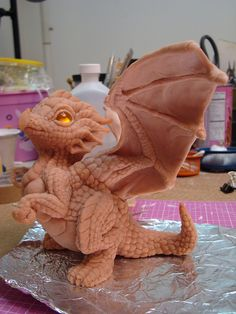 Little dragon sculpture by TheSixthLeafClover, via Flickr