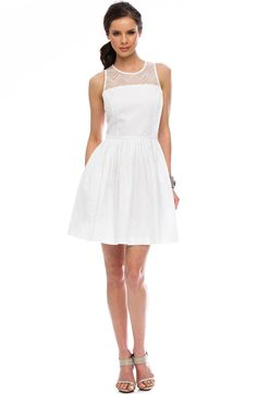 Lace Fit & Flare Dress - Dresses - Sale - Armani Exchange