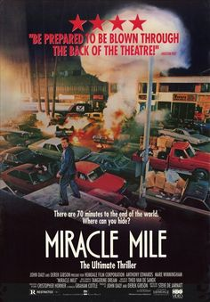 Beautiful Miracle Mile poster. If you've not seen it, then you need to find it...