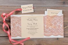 Custom listing 100 Coral Lace Wedding by forlovepolkadots on Etsy