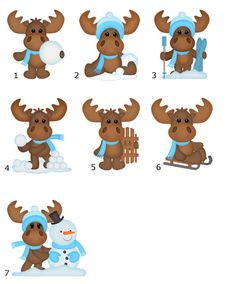 Christmas Moose Cards Note Cards Holiday Personalized Custom (set of 8). $12.00, via Etsy.