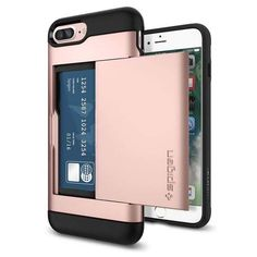 Ditch the bulk of your wallet for our Slim Armor® CS case for the iPhone 7 Plus. Its minimally designed card slot houses up to 2 cards while staying inconspicuous, giving you the ultimate convenience Cool Phone Cases, Iphone 7 Plus Cases, Iphone Gadgets, Electronics Gadgets, Iphone Accessories, New Phones, Card Storage, Apple Iphone, Iphone 6
