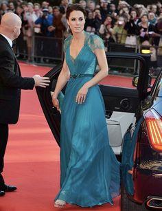 Catherine Middleton wearing Jenny Packham