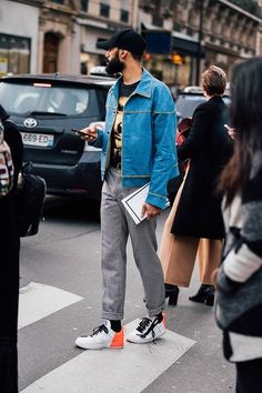 See the best menswear looks seen by Jonathan Daniel Pryce on the streets of Fashion Week Fall/Winter 2017-2018.