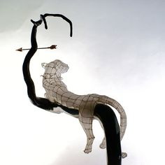 panther sunset behind by polyscene, via Flickr - paper and wire sculpture