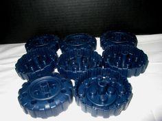 Lot of 8 Classic Hasbro Tinkertoy Construction Set - Black Peg Wheels Parts #Hasbro