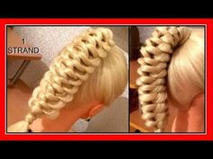 ONE STRAND KNOT BRAID HAIRSTYLE / HairGlamour Styles / Braids Hair Tutorial - YouTube