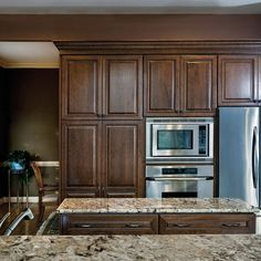 Maple cabinets with granite