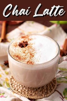 Make your favorite coffee shop drinks at home with this Chai Latte recipe from Tornadough Alli! Easy and minimal ingredients and time help this come together in no time. This cozy drink is perfect for cold Fall and Winter nights! Bhg Recipes, Easy Drink Recipes, Stay At Home Chef, Good Food, Yummy Food, Latte Recipe, Recipe Boards, Italian Hot, Food Words