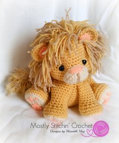 Lion pattern by Mostly Stitchin' Crochet Designs by Meredith May