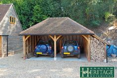 Here are some in depth articles taking an in depth look at some of our completed past oak frame projects. Oak Framed Buildings, English Heritage, Picture Frames, Shed, Outdoor Structures, Traditional, House Styles, Projects, Garage